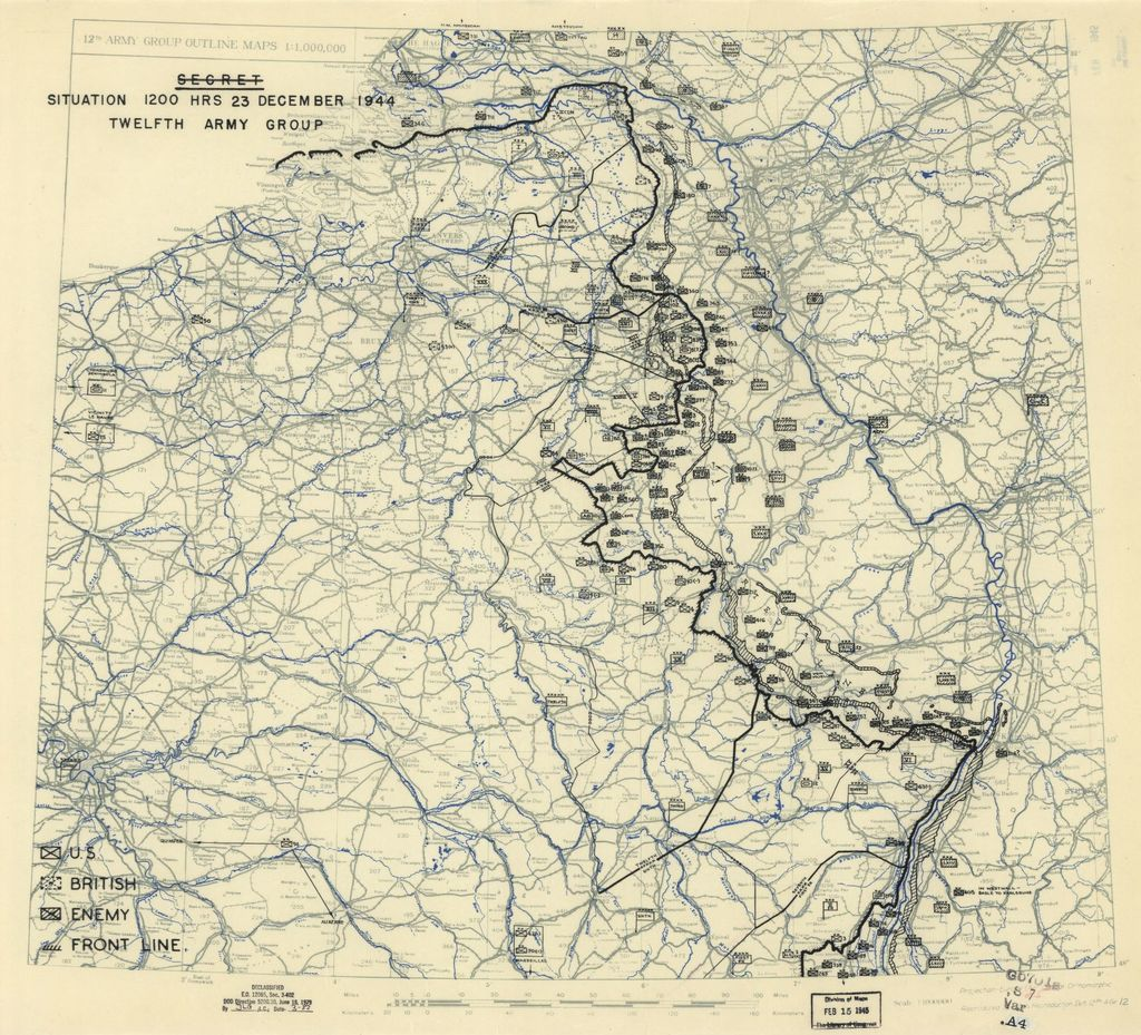 [December 23, 1944], HQ Twelfth Army Group situation map.