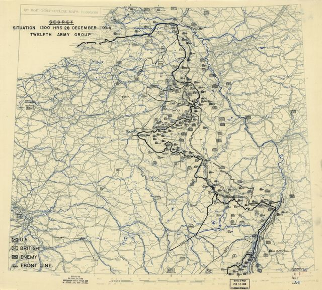 [December 28, 1944], HQ Twelfth Army Group situation map.