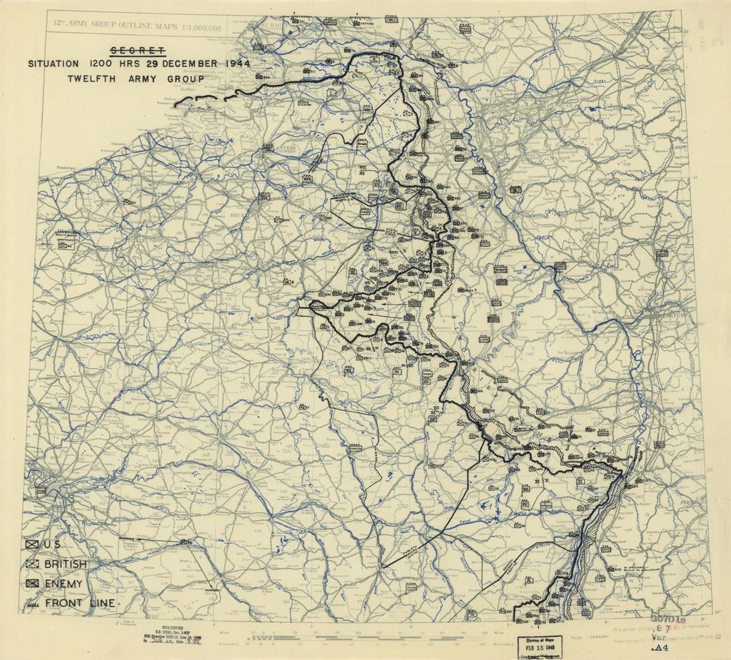 [December 29, 1944], HQ Twelfth Army Group situation map.