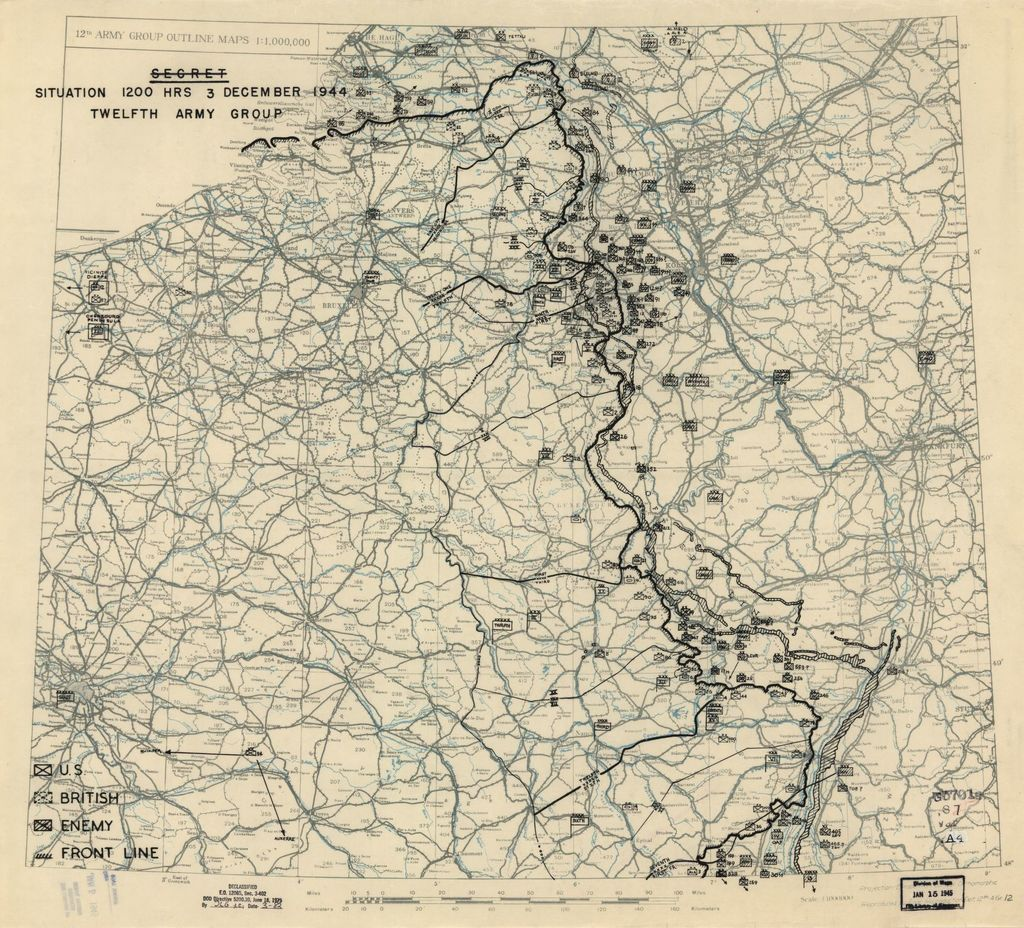 [December 3, 1944], HQ Twelfth Army Group situation map.