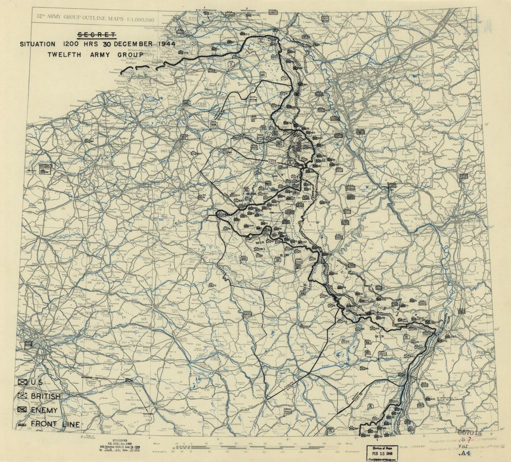 [December 30, 1944], HQ Twelfth Army Group situation map.