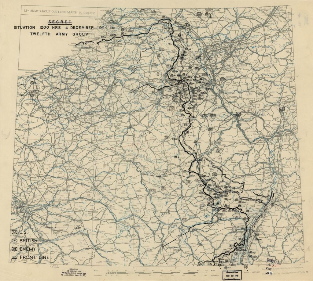 [December 4, 1944], HQ Twelfth Army Group situation map.