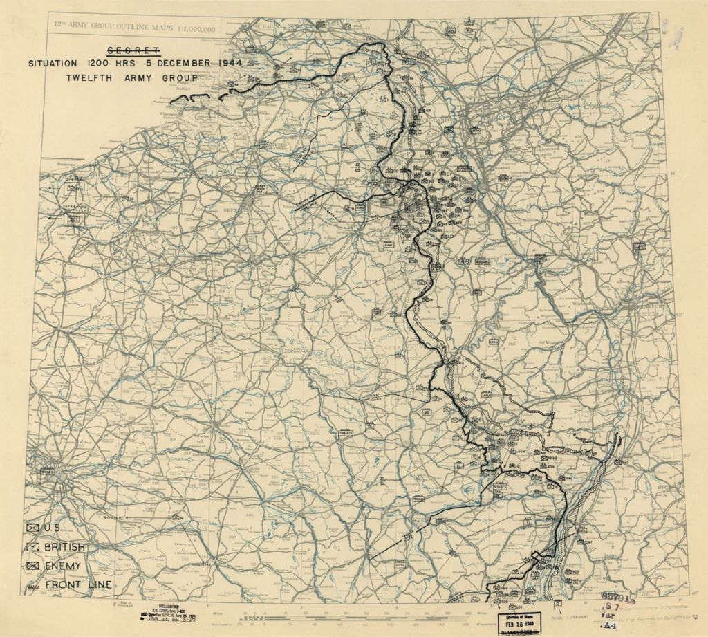 [December 5, 1944], HQ Twelfth Army Group situation map.