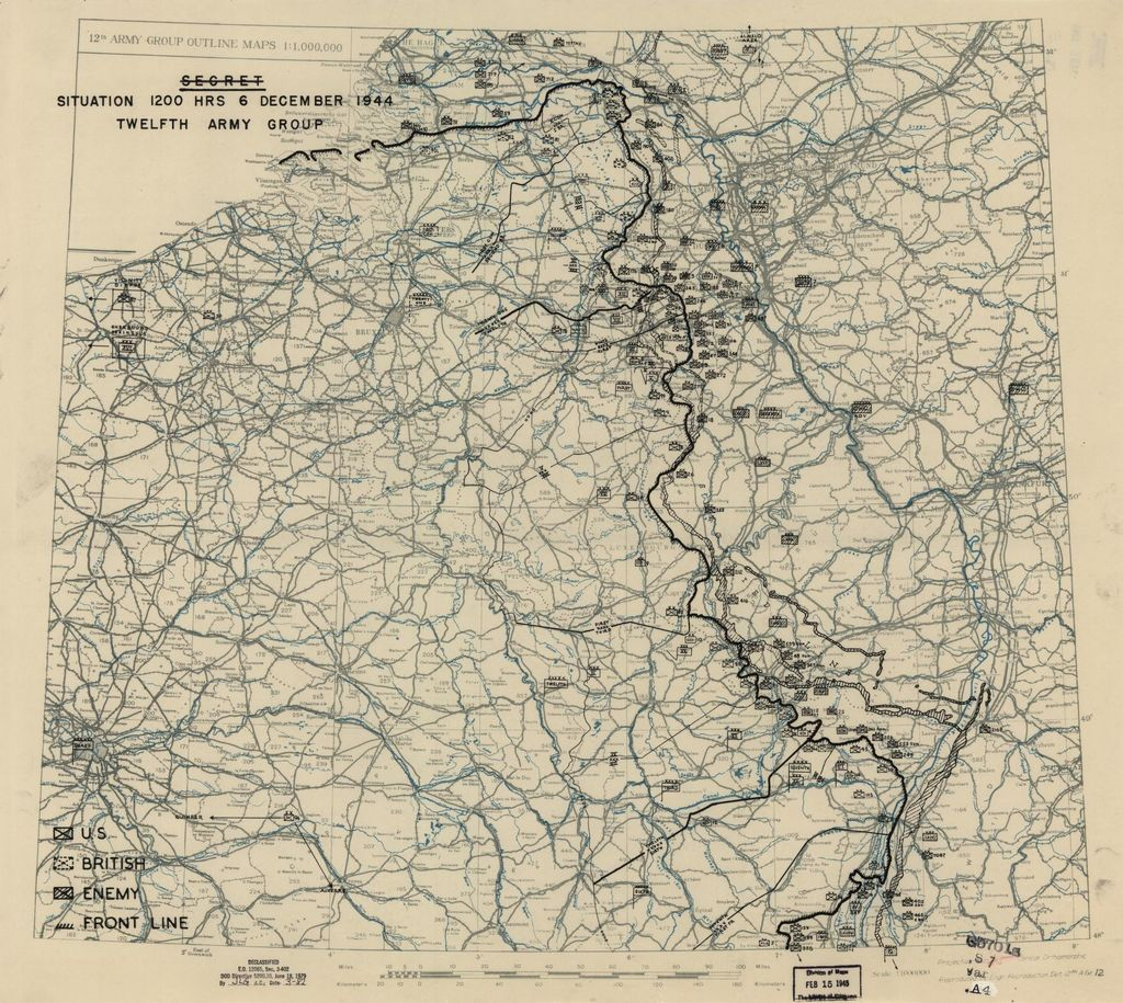 [December 6, 1944], HQ Twelfth Army Group situation map.