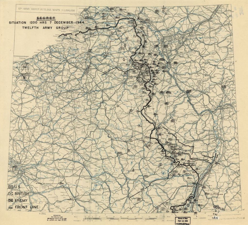[December 7, 1944], HQ Twelfth Army Group situation map.