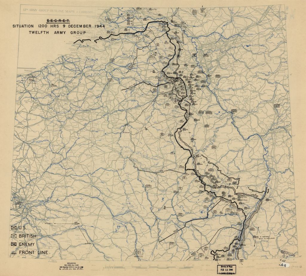 [December 9, 1944], HQ Twelfth Army Group situation map.