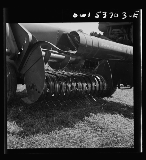 Dresher, Pennsylvania. Detail of a hay baler
