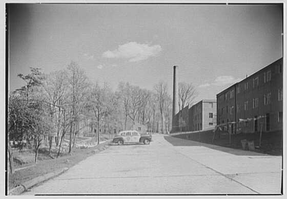 Fort Dupont Houses, Washington, D.C. Parking space and central heating chimney