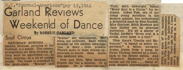 Garland Reviews Weekend of Dance