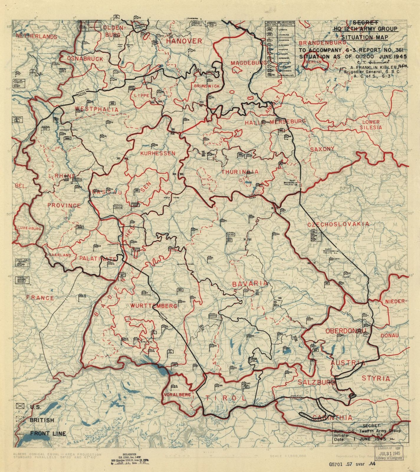 Map Of France Holland And Germany.Hq Twelfth Army Group Situation Map Battle Of The Bulge France
