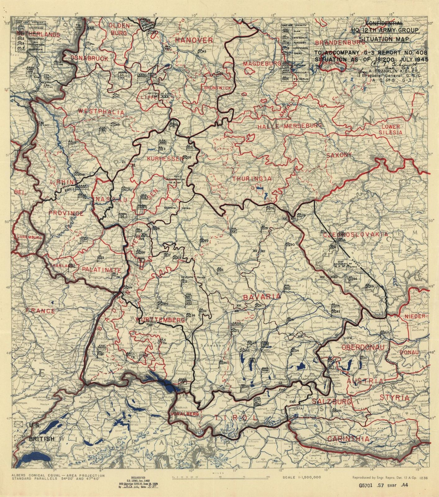 Map Of France 1600.Hq Twelfth Army Group Situation Map Battle Of The Bulge France