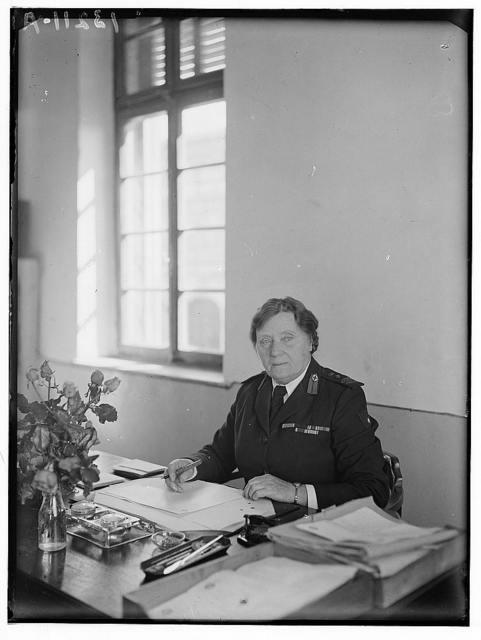 Miss Ridler at her desk. Dec. 1944