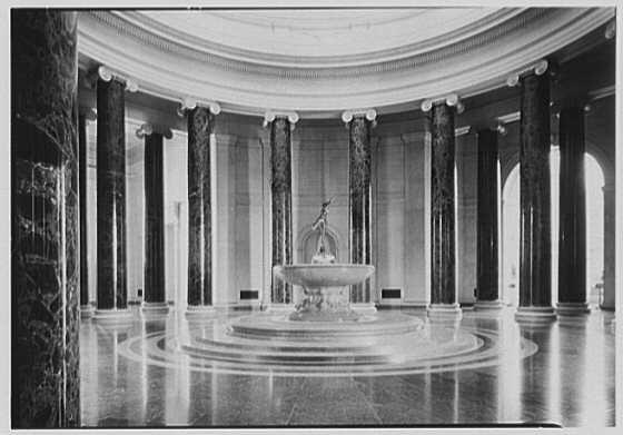 National Gallery of Art, Washington, D.C. Rotunda, horizontal, morning