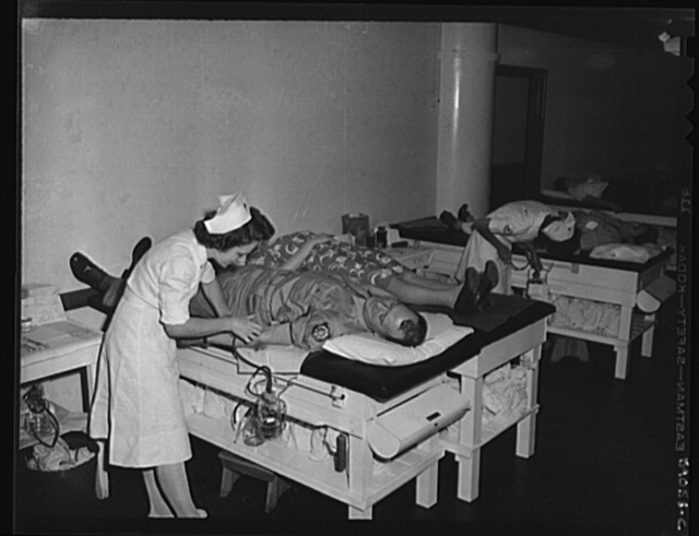 New York, New York. June 6, 1944. Blood donors on D-day