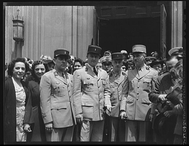 New York, New York. June 6, 1944. Noon mass. Saint Vincent de Paul's Church on D-day