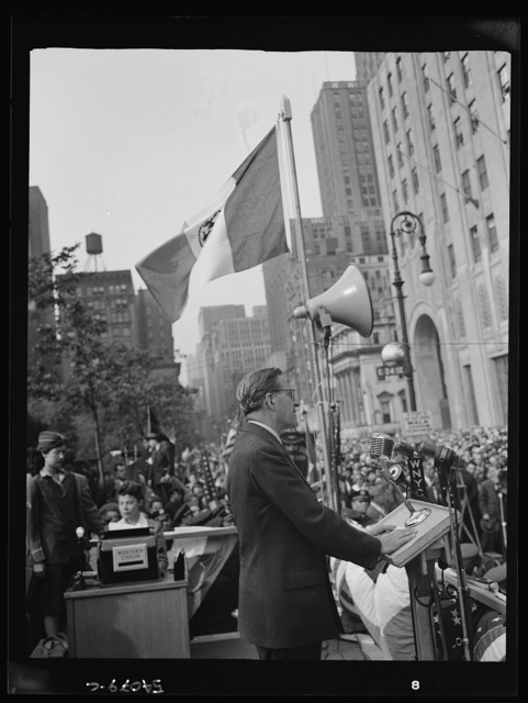 New York, New York. June 6, 1944. Rabbi Stephen S. Wise at the D-day rally in Madison Square