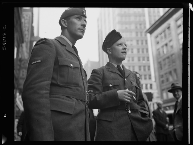 New York, New York. June 6, 1944. Times Square and vicinity on D-day
