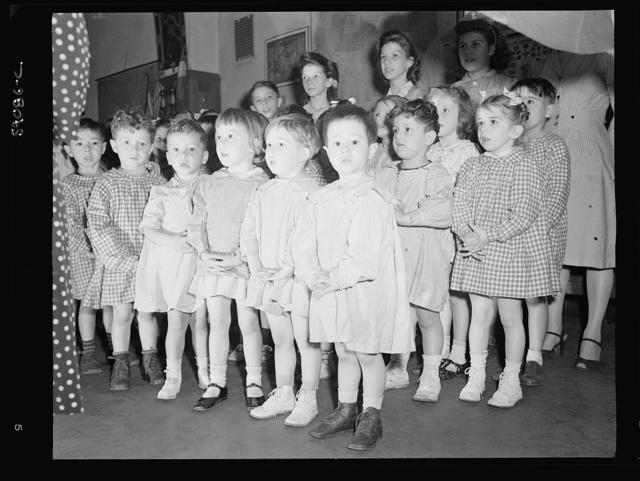 New York, New York. Preschool age children at L'Ecole maternelle francaise on D-day