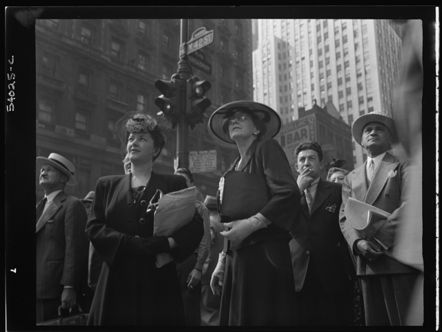 New York, New York. Times Square and vicinity on D-Day