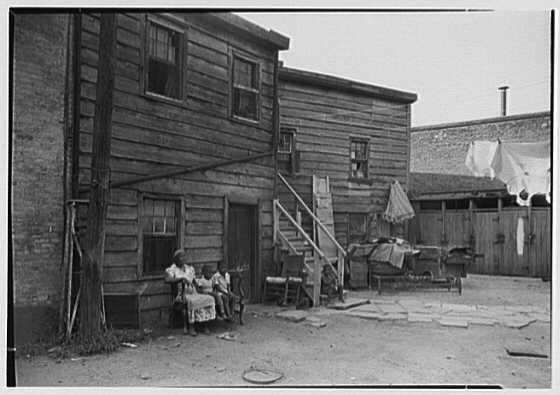 Newark Housing Authority, 57 Sussex Ave., Newark, New Jersey. Colored slums III
