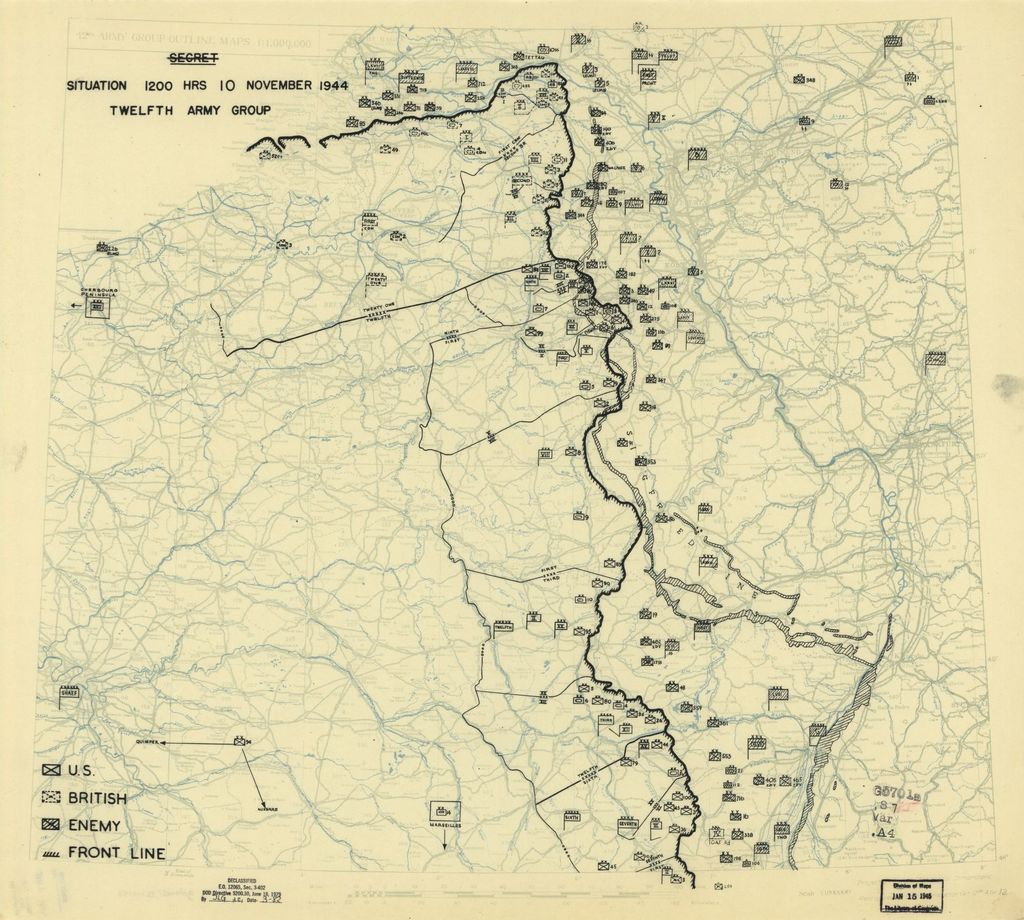 [November 10, 1944], HQ Twelfth Army Group situation map.