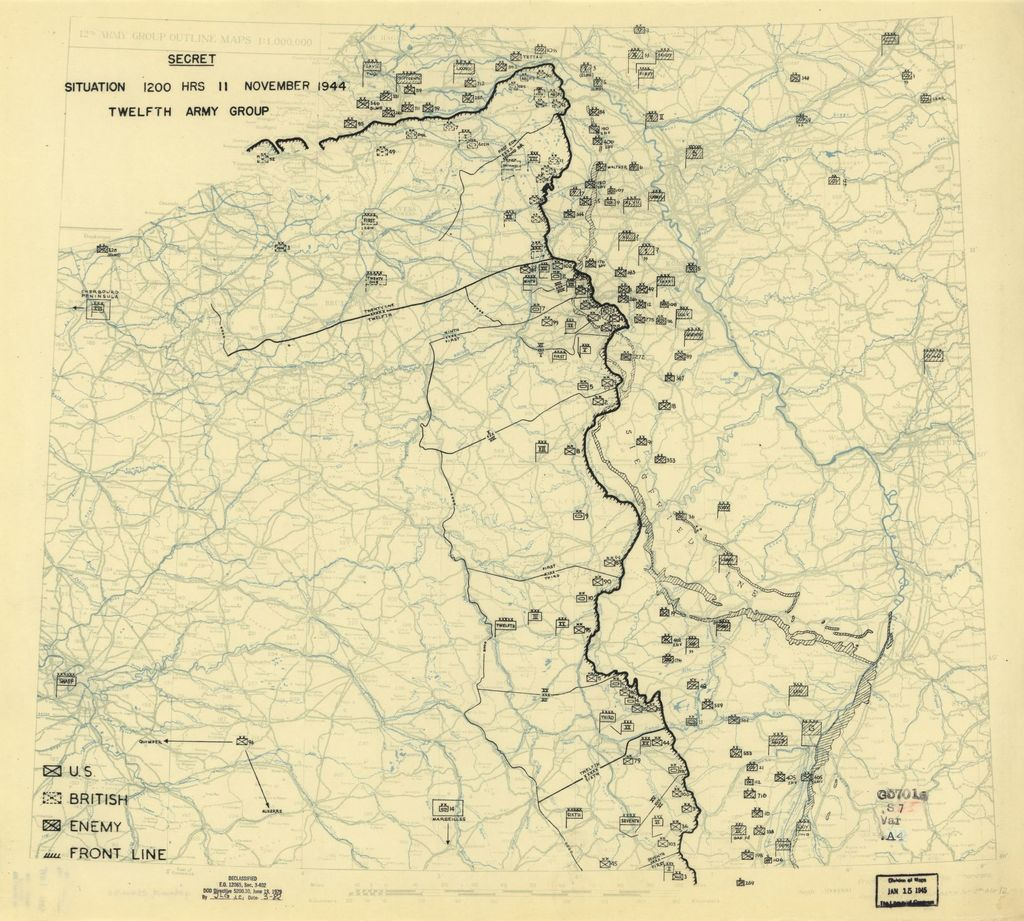 [November 11, 1944], HQ Twelfth Army Group situation map.