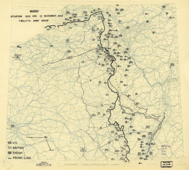 [November 12, 1944], HQ Twelfth Army Group situation map.