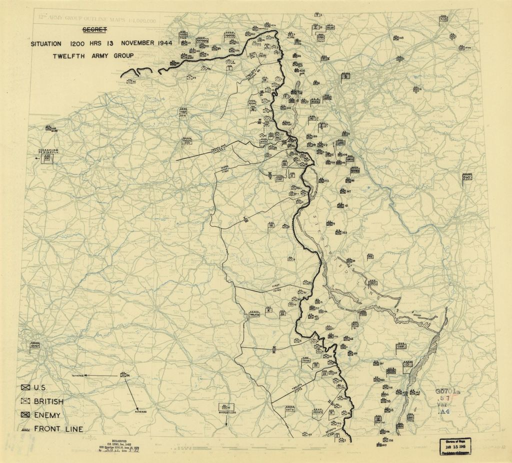 [November 13, 1944], HQ Twelfth Army Group situation map.