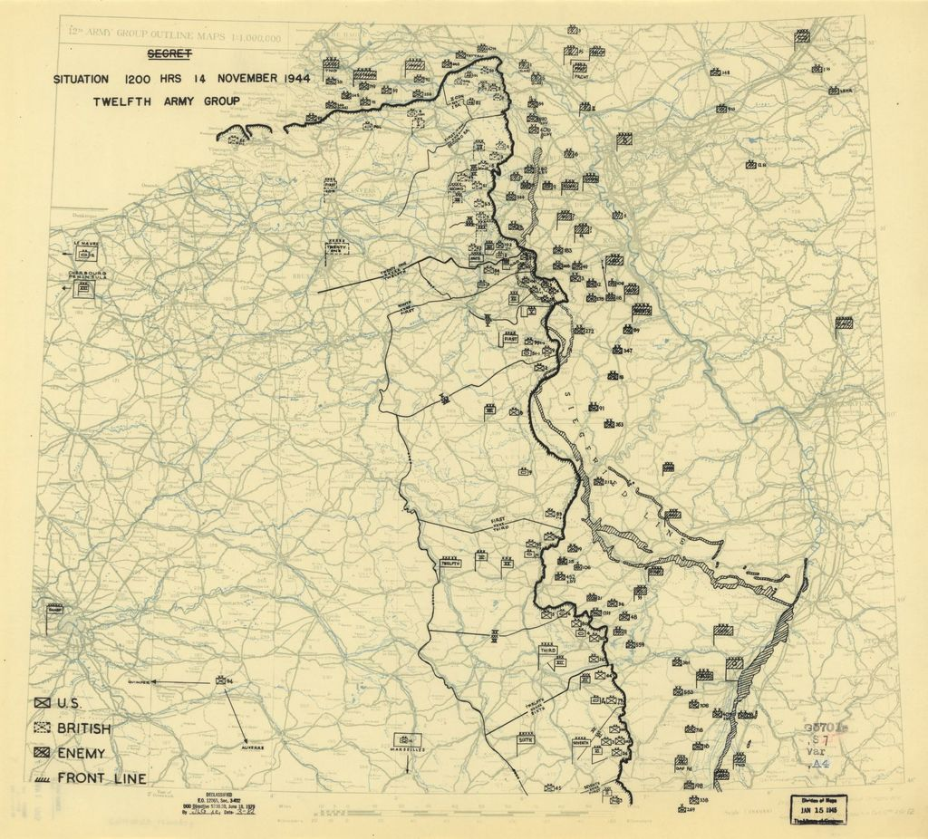 [November 14, 1944], HQ Twelfth Army Group situation map.