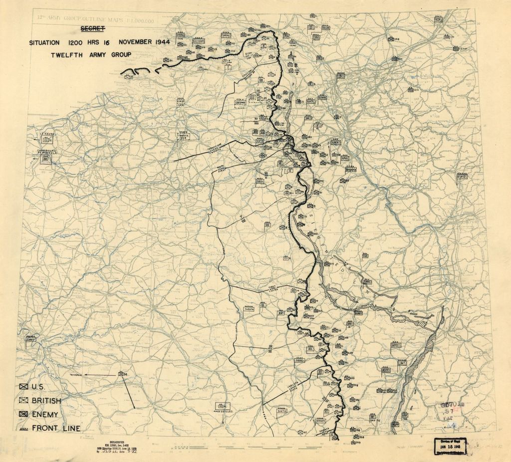 [November 16, 1944], HQ Twelfth Army Group situation map.