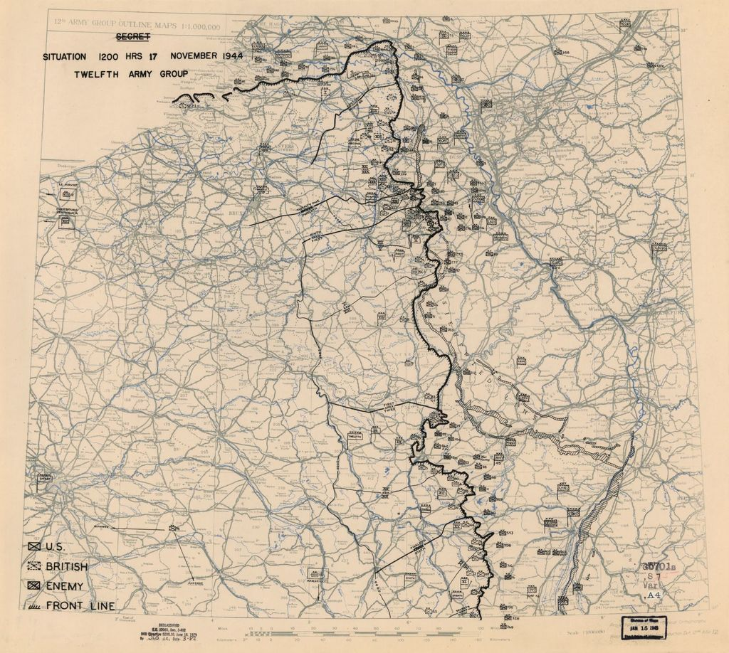 [November 17, 1944], HQ Twelfth Army Group situation map.