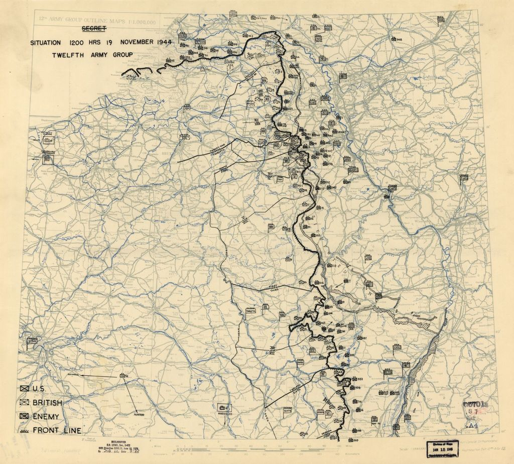[November 19, 1944], HQ Twelfth Army Group situation map.