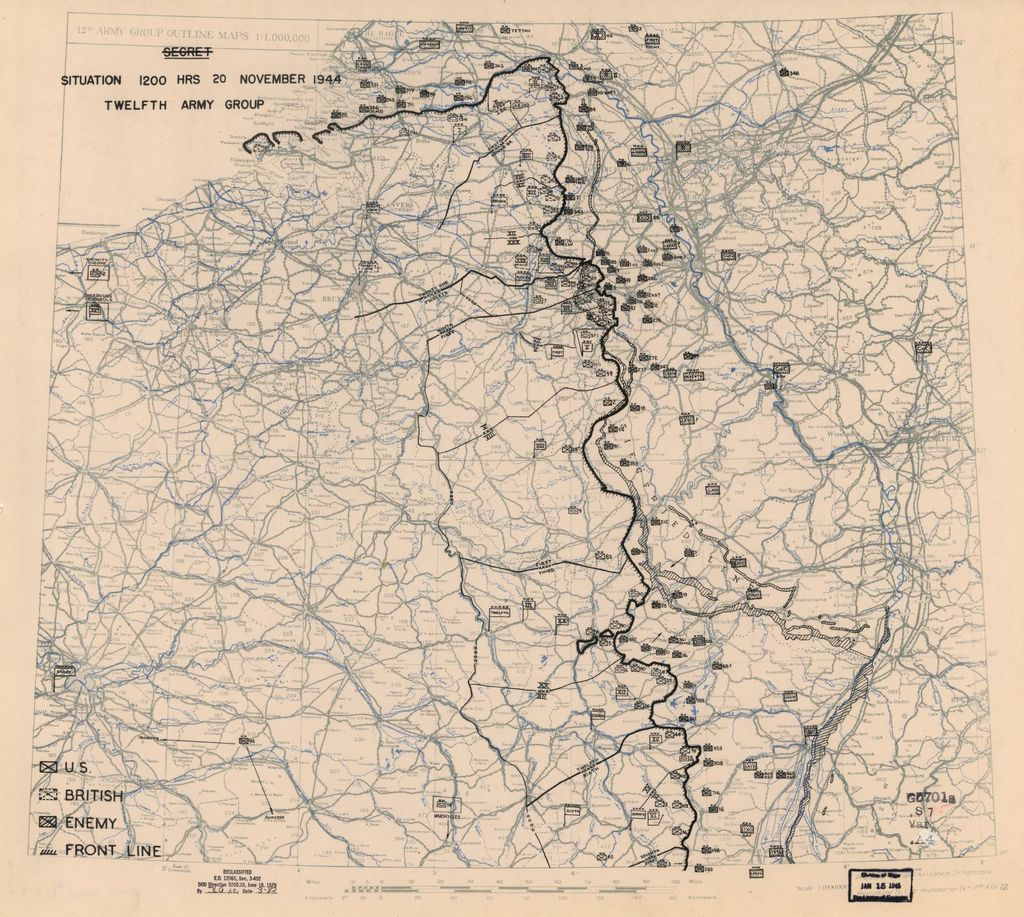 [November 20, 1944], HQ Twelfth Army Group situation map.