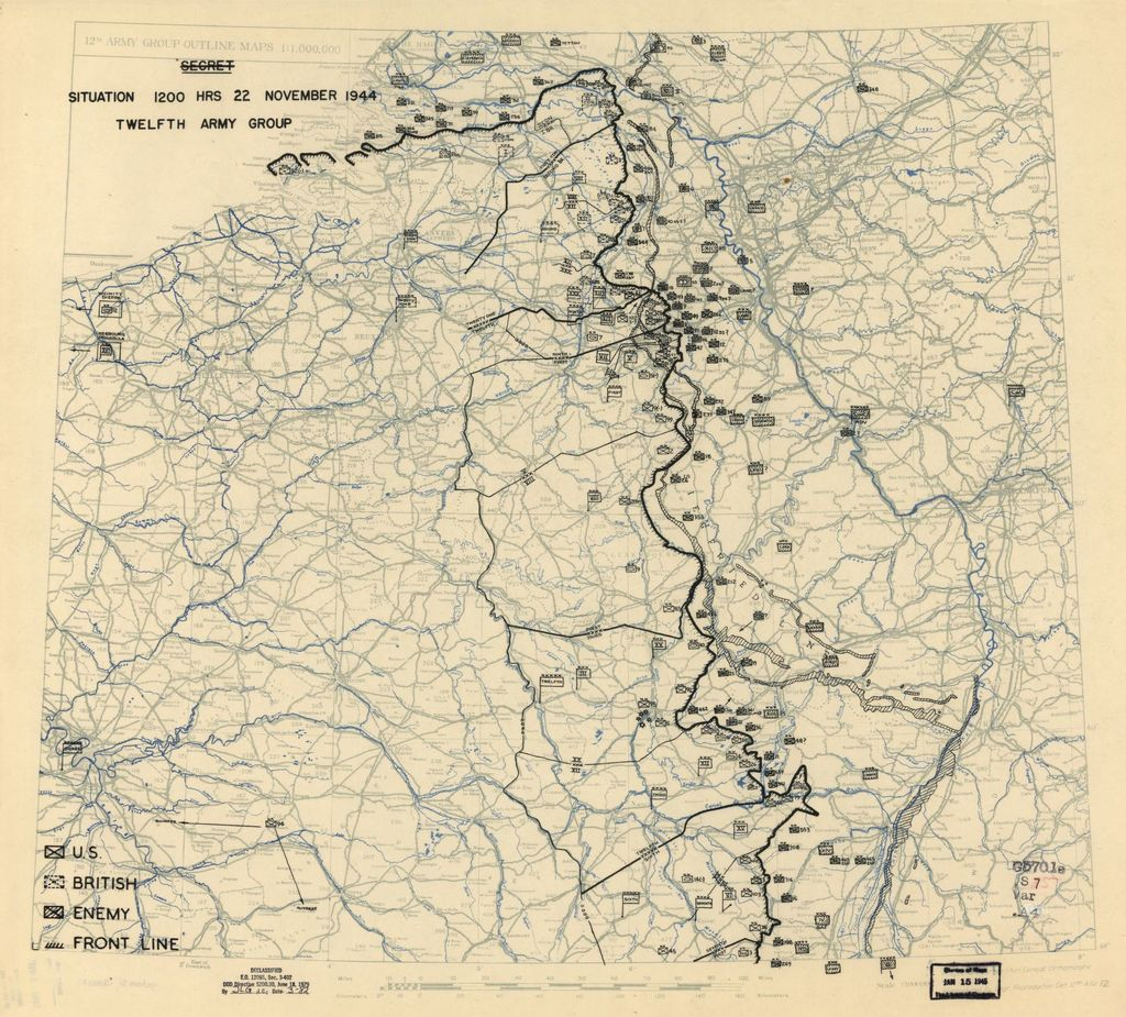 [November 22, 1944], HQ Twelfth Army Group situation map.