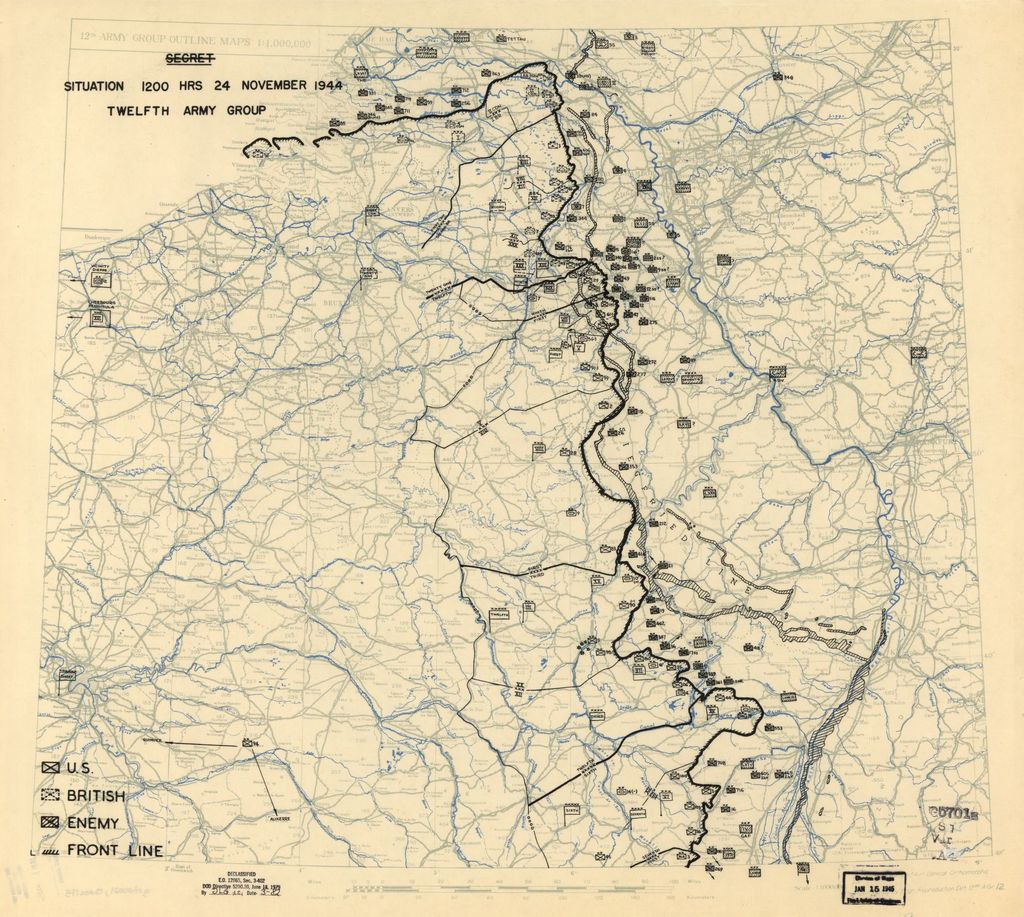 [November 24, 1944], HQ Twelfth Army Group situation map.