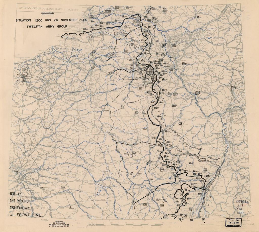 [November 26, 1944], HQ Twelfth Army Group situation map.