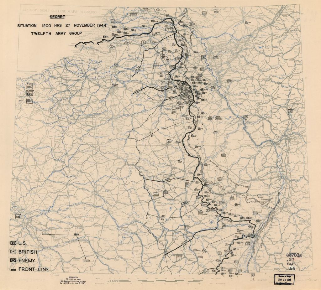 [November 27, 1944], HQ Twelfth Army Group situation map.