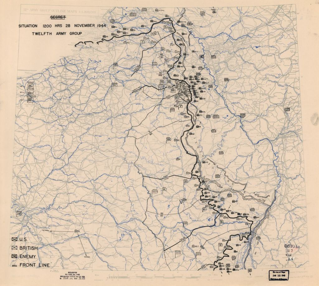 [November 28, 1944], HQ Twelfth Army Group situation map.