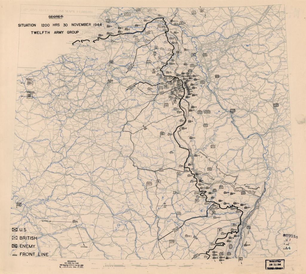 [November 30, 1944], HQ Twelfth Army Group situation map.