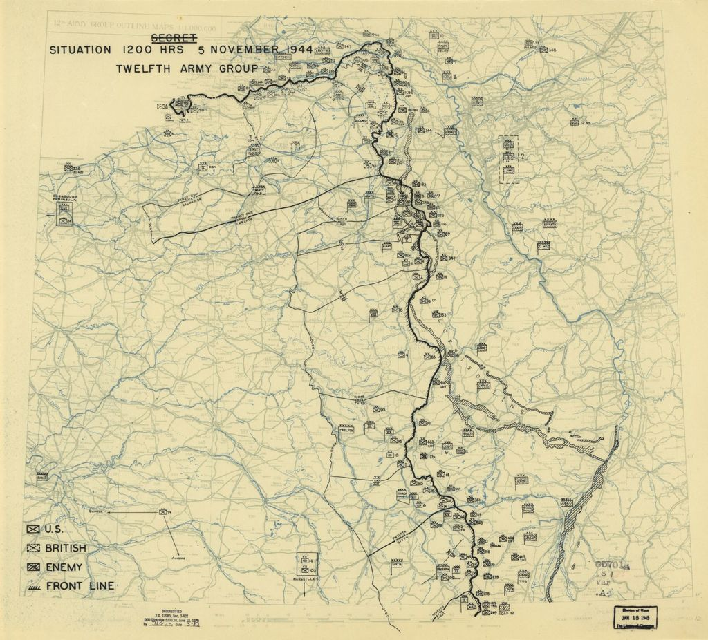 [November 5, 1944], HQ Twelfth Army Group situation map.
