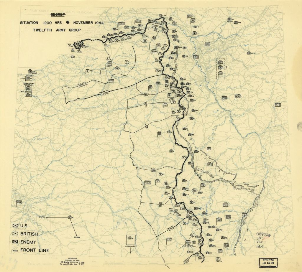 [November 6, 1944], HQ Twelfth Army Group situation map.