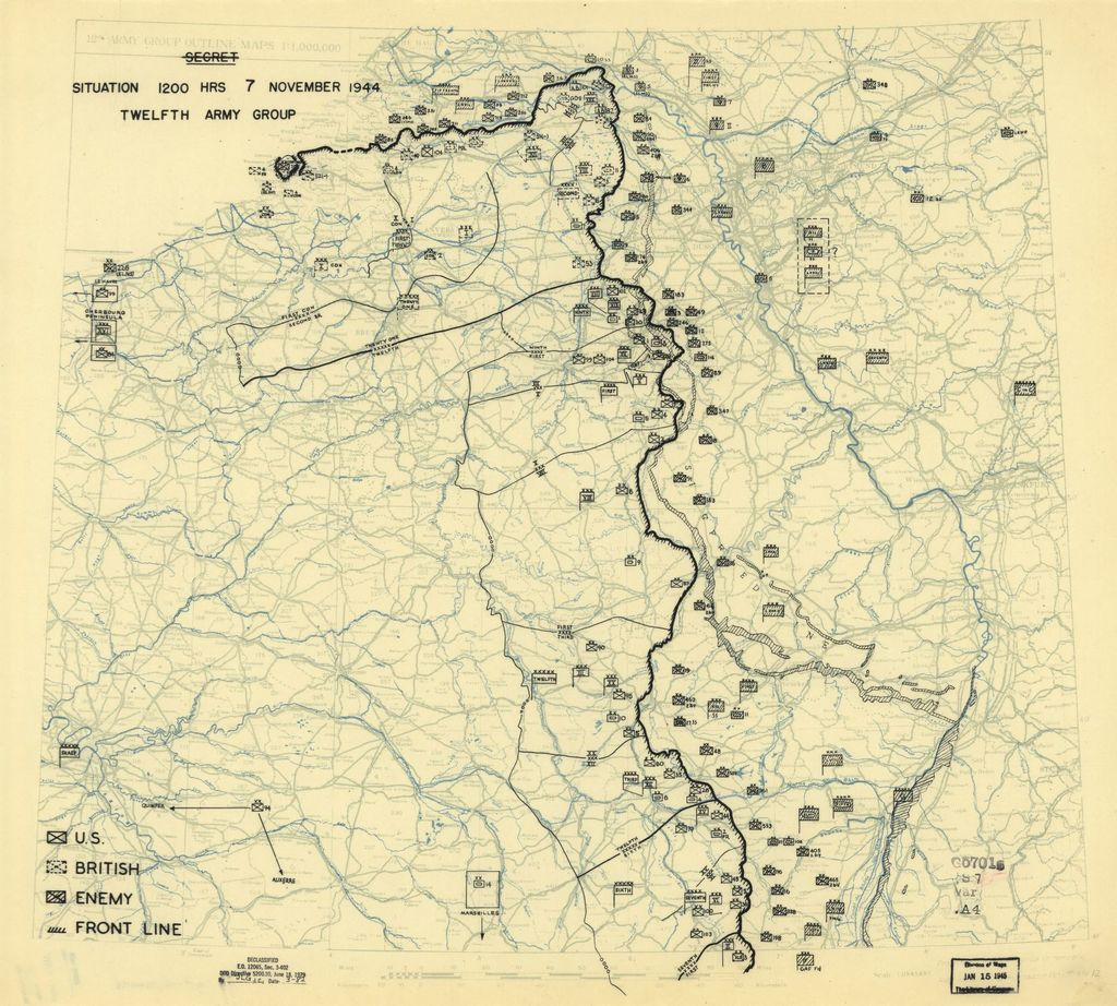 [November 7, 1944], HQ Twelfth Army Group situation map.