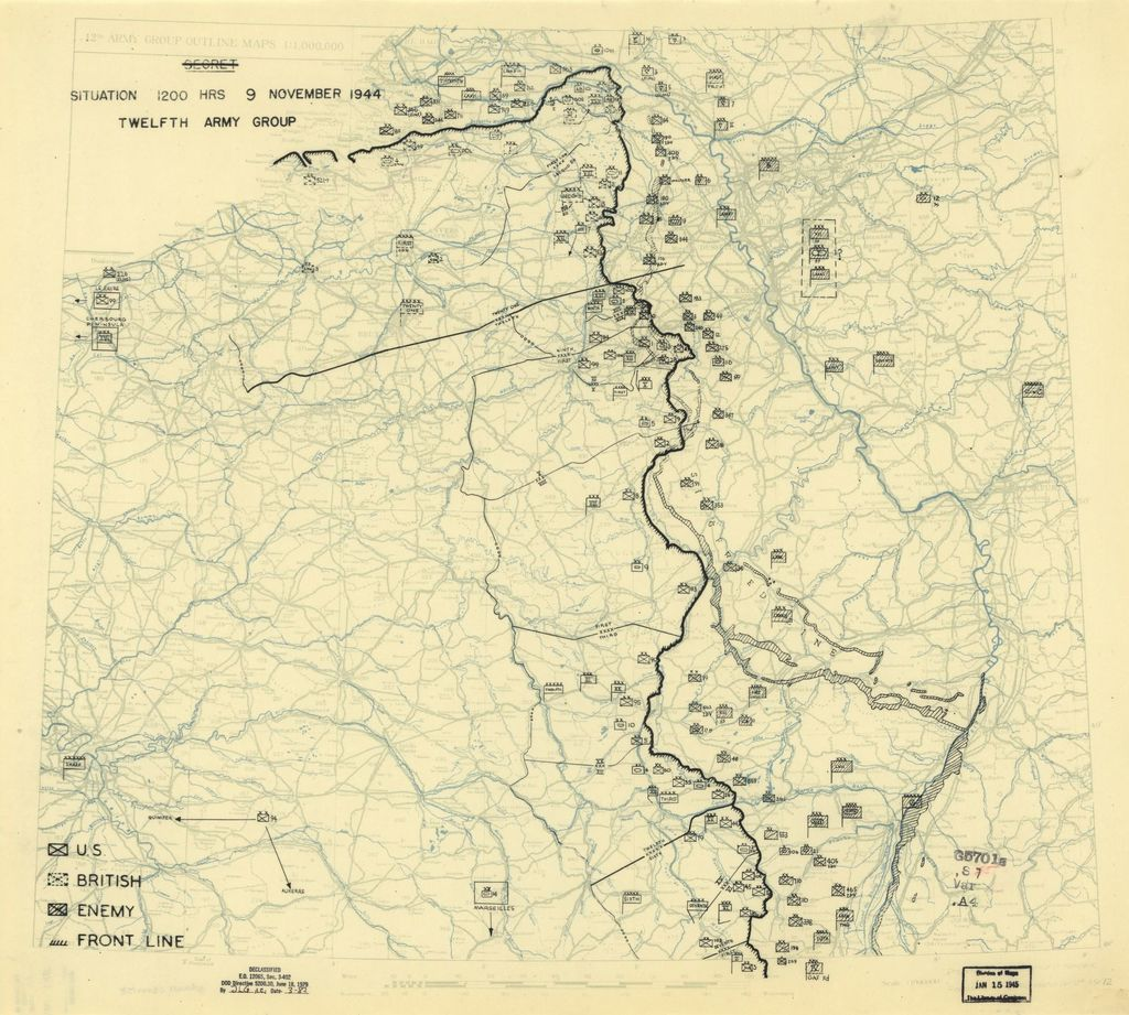 [November 9, 1944], HQ Twelfth Army Group situation map.