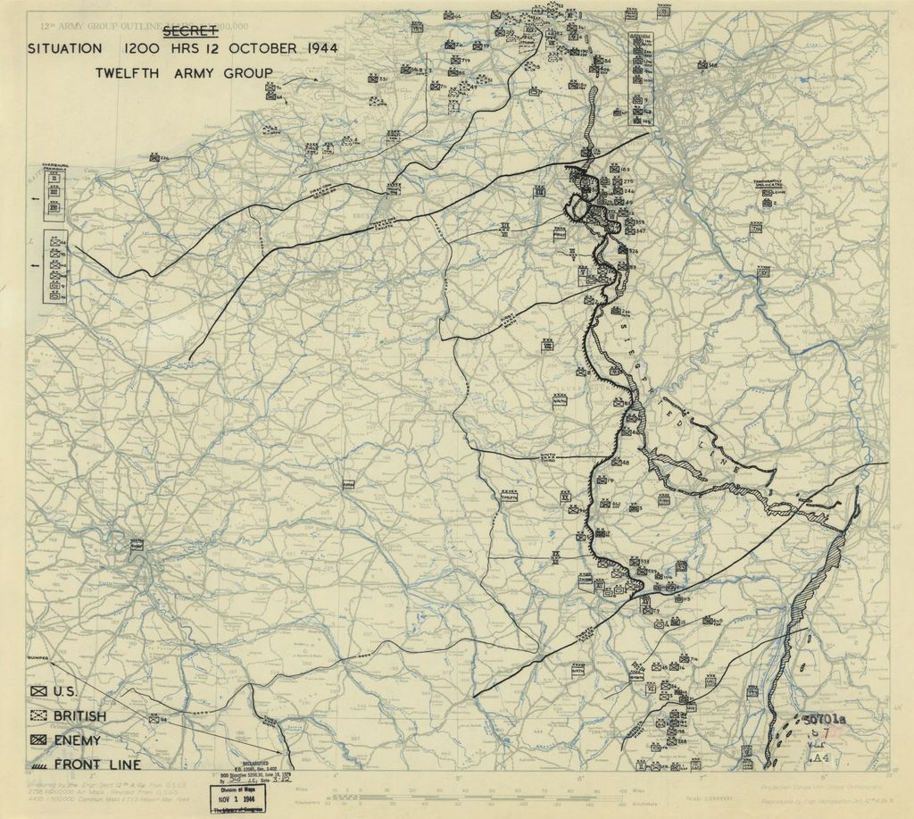 [October 12, 1944], HQ Twelfth Army Group situation map.