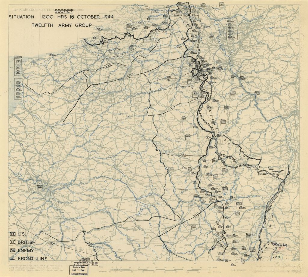 [October 16, 1944], HQ Twelfth Army Group situation map.