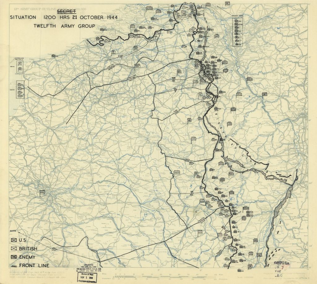 [October 21, 1944], HQ Twelfth Army Group situation map.