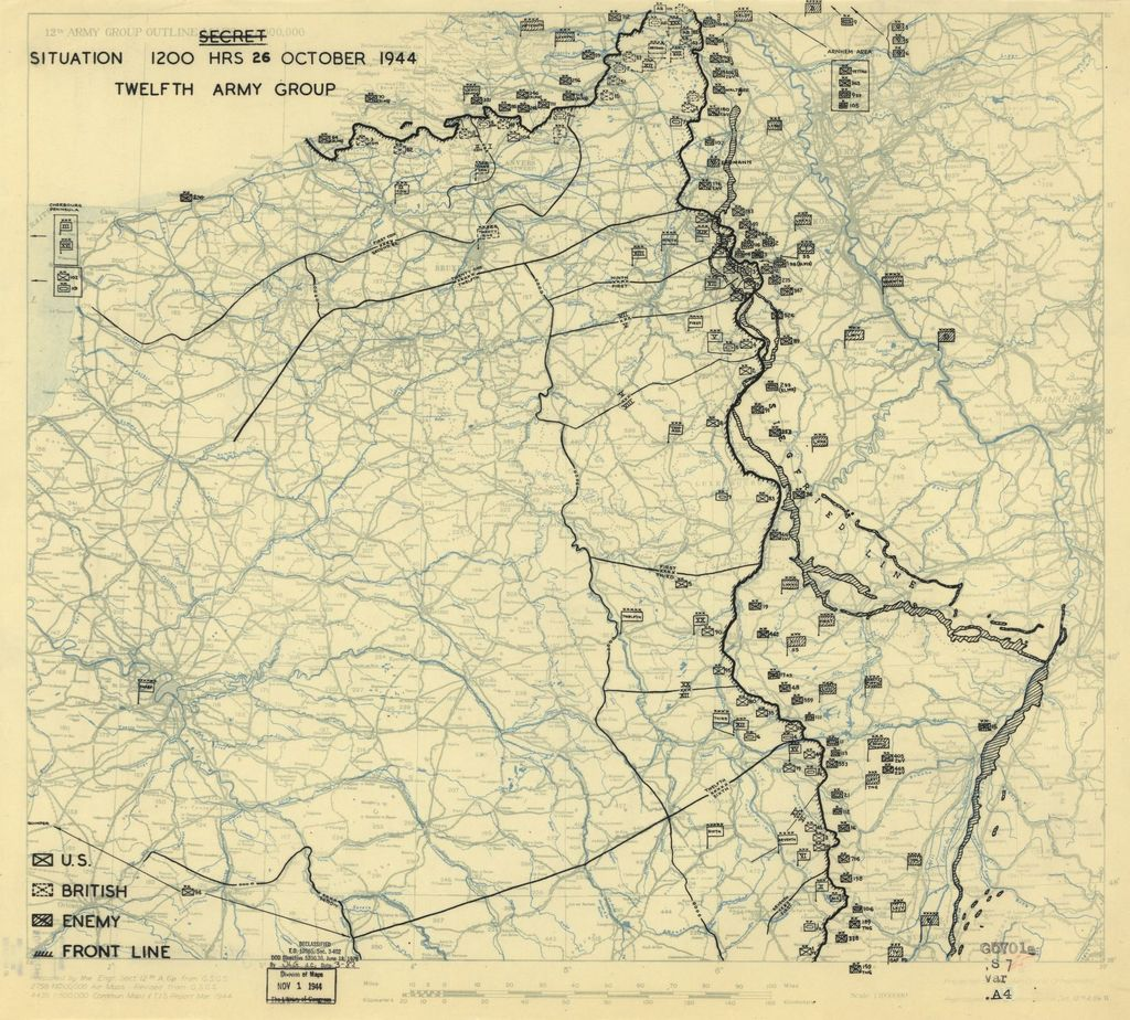 [October 26, 1944], HQ Twelfth Army Group situation map.