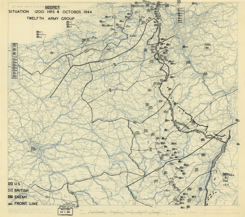 [October 4, 1944], HQ Twelfth Army Group situation map.
