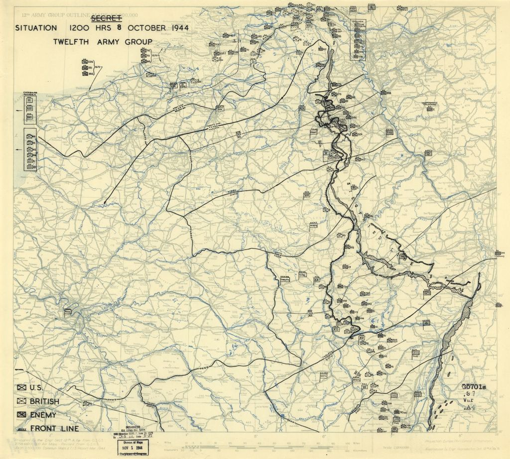 [October 8, 1944], HQ Twelfth Army Group situation map.