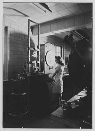Pittsburgh Plate Glass Co., Columbia Chemical Division, Barberton, Ohio. Laboratory, Olson universal tester